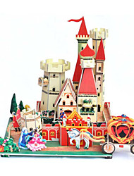 cheap -DIY Castle Shaped 3D Puzzle (8 PS)