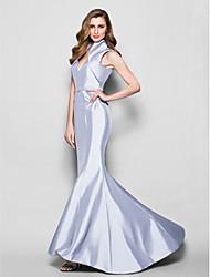 cheap -Mermaid / Trumpet Mother of the Bride Dress Queen Anne Sweep / Brush Train Taffeta Sleeveless with Sash / Ribbon Beading 2021