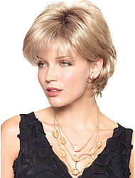 cheap -High Quality Capless Short Wavy Mono Top Human Hair Wigs 6 Colors to Choose