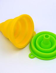 abordables -rétractable pliant silicone mini entonnoir huile domestique peut entonnoir grand diamètre silicone coulant trompette vin entonnoir
