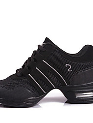 cheap -Women's Dance Shoes Synthetic Dance Sneakers Lace-up Sneaker Low Heel Non Customizable White / Pink / Gold / EU39