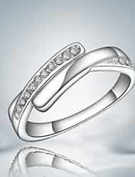 Недорогие -Жен. Кольцо Цирконий Серебряный Стерлинговое серебро Цирконий Массивный Мода Для вечеринок Бижутерия