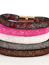 cheap -Women's Chain Bracelet Vintage Bracelet Ladies Colorful Rhinestone Bracelet Jewelry Black / Brown For Daily Casual Sports / Imitation Diamond