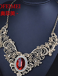 cheap -European and American fashion jewelry items hollow metal diamond necklace retro big banquet accessories