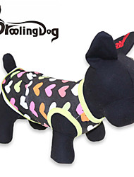 cheap -Cat Dog Dress Dog Clothes Heart Black Cotton Costume For Summer