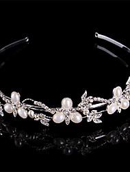 cheap -Women Pearl/Sterling Silver/Rhinestone Headbands With Wedding/Party Headpiece