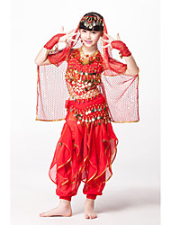 cheap -Outfits Performance Chiffon / Sequined Beading / Sequin / Coin Sleeveless Natural / Belly Dance