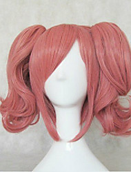 cheap -top quality cosplay wig party wigs woman s wigs pink long wavy animated synthetic hair wigs Halloween