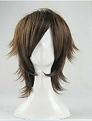 cheap -freeshipping new arrival men s cosplay wig cartoon wigs party wig brown short straight animated synthetic hair wigs Halloween