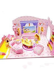 Недорогие -DIY розовый девушки спальня форме 3d головоломки