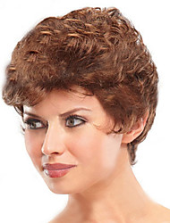 cheap -Synthetic Wig Curly Kinky Curly Kinky Curly Curly Short Bob Wig Short Gold / Brown Synthetic Hair 8 inch Women's Natural Hairline Brown