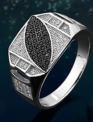 cheap -Men's thumb ring Cubic Zirconia Silver Sterling Silver Silver Fashion Daily Jewelry