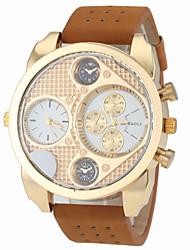 Недорогие -JUBAOLI Муж. Армейские часы Авиационные часы Кварцевый Кожа Горячая распродажа Аналоговый Кулоны Мода - Белый Черный