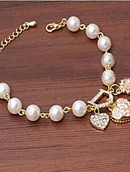 cheap -Women's Charm Bracelet Imitation Pearl Bracelet Jewelry Golden For Wedding Party Daily Casual