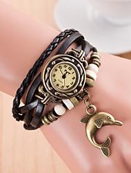 cheap -Women's Wrist Watch Wrap Bracelet Watch Quartz Leather Black Casual Watch Ladies Charm - Green Light Blue Royal Blue