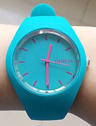 Недорогие -Жен. Модные часы Черный / Белый / Синий Плитка Дамы Наручные часы - Синий Розовый Чернильный синий