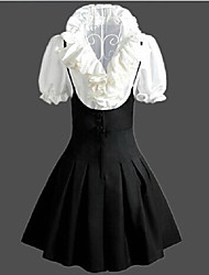 cheap -Sweet Lolita Vintage Inspired Dress Women's Girls' Japanese Cosplay Costumes Vintage Sleeveless Medium Length