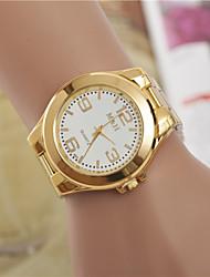 Недорогие -Жен. Нарядные часы Модные часы Наручные часы Кварцевый / сплав Группа Повседневная Золотистый