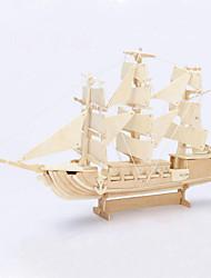 Недорогие -DIY корабль в форме 3D деревянные головоломки