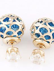 cheap -Women's Stud Earrings Ball Resin Earrings Jewelry Blue / Pink / Rainbow For Daily