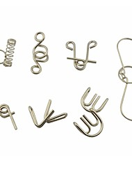 cheap -7-in-1 Educational Stainless Steel Puzzle Buckles Set