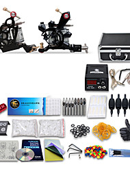 cheap -DRAGONHAWK Professional Tattoo Kit Tattoo Machine - 2 pcs Tattoo Machines LCD power supply 2 cast iron machine liner & shader / Case Included