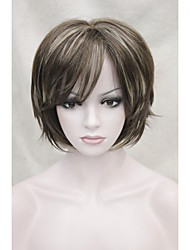 cheap -Synthetic Wig Straight Straight Wig Synthetic Hair Mixed Color Hivision