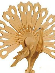 Недорогие -3 D головоломки деревянные ремесленные павлины