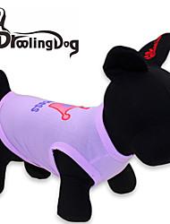 cheap -Cat Dog Shirt / T-Shirt Tiaras & Crowns Dog Clothes Purple Pink Rose Costume Terylene XS S M L