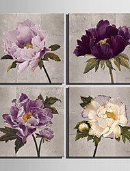 cheap -Print Rolled Canvas Prints - Botanical Four Panels