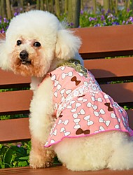 cheap -Cute Bowknot Pink/Orange Poplin Braces Skirt for Pets Dogs (Assorted Colors and Sizes)