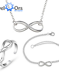 cheap -Silver Jewelry Set Infinity Ladies Classic Earrings Jewelry Silver Infinity For Wedding Special Occasion Birthday Gift Daily