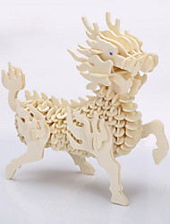 cheap -Kirin Wooden Jigsaw Puzzle Free Color