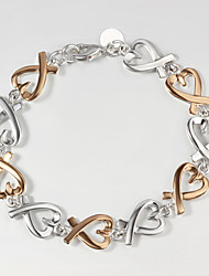 cheap -Italy 925 Silver and Gold Heart Design Bracelet Hottest Fashion Indian Bangles Bracelets