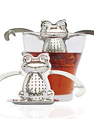 Недорогие -лягушка из нержавеющей стали чай для заварки с поддоном