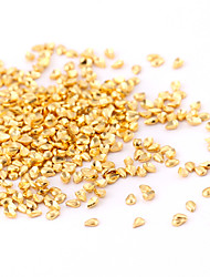 cheap -new 500pcs small gold nail art jewelry alloy waterdrop teardrop slice nail art stud for diy salon nails decorations