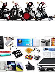 cheap -DRAGONHAWK Professional Tattoo Kit Tattoo Machine - 4 pcs Tattoo Machines LCD power supply 4 alloy machine liner & shader / Case Included