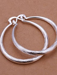 cheap -Women's Drop Earrings Machete Ladies Italian everyday Sterling Silver Earrings Jewelry Silver For Wedding Party Daily Casual