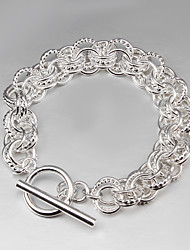 cheap -2015 Hot Selling Products 925 Silver links Bracelet 925 Sterling Silver Bangles Women