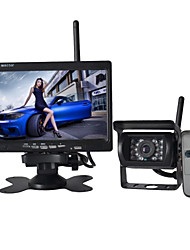 cheap -7 Inch Car wireless Monitor 170° HD Bus Car Rear View Camera + Bus High-Definition Wide Angle Waterproof CMD 18 LED Night Vision Rear View reverse Parking Camera