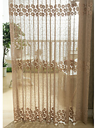 cheap -Rod Pocket Grommet Top Tab Top Double Pleated Pencil Pleated One Panel Curtain Country Modern Neoclassical European Designer Bedroom
