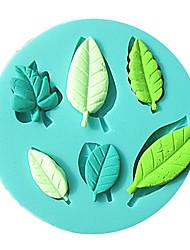 Недорогие -1 шт. 3d форма листьев силиконовые помады формы силиконовые формы для выпечки мыло плесень sugarcraft торт украшения инструменты