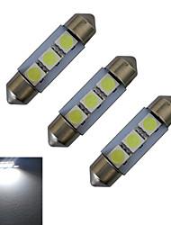 cheap -3pcs 1 W Decoration Light 60 lm Festoon 3 LED Beads SMD 5050 Cold White 12 V / 3 pcs