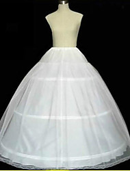 cheap -Wedding / Special Occasion Slips Tulle Floor-length A-Line Slip / Ball Gown Slip / Chapel Train with