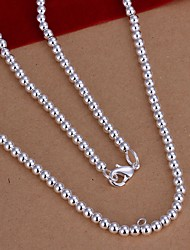 cheap -Women's Chain Necklace Ladies Simple Style Sterling Silver Necklace Jewelry 1pc For Wedding Party Daily Casual