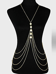 cheap -Body Chain Ladies Unique Design Party Women's Body Jewelry For Party Imitation Pearl Alloy Gold