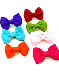 cheap -Elegant Pure Color  Rubber Band Hair Bow for Pet Dogs  (Random Color)