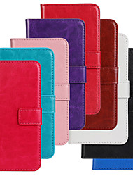 cheap -Case For Samsung Galaxy S5 Mini Wallet / Card Holder / with Stand Full Body Cases Solid Colored PU Leather