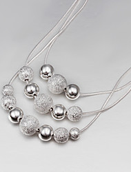 cheap -Women's Statement Necklace Floating Ladies Silver Plated Silver Silver Necklace Jewelry For Party