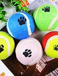 cheap -Ball Tennis ball Interactive Toy Cat Toy Dog Toy Pet Toy Footprint Rubber Gift